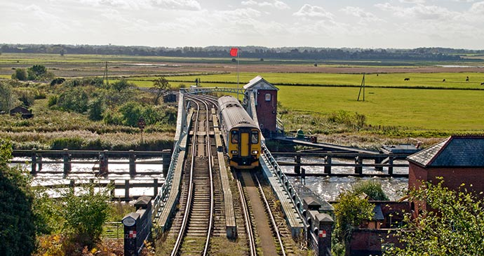 Reedham Swing Bridge UK by Gerry Balding