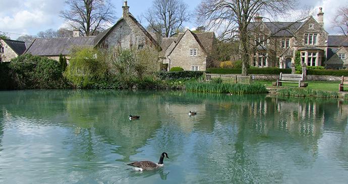 Pond, Biddestone, Wiltshire, Cotswolds England by Caroline Mills