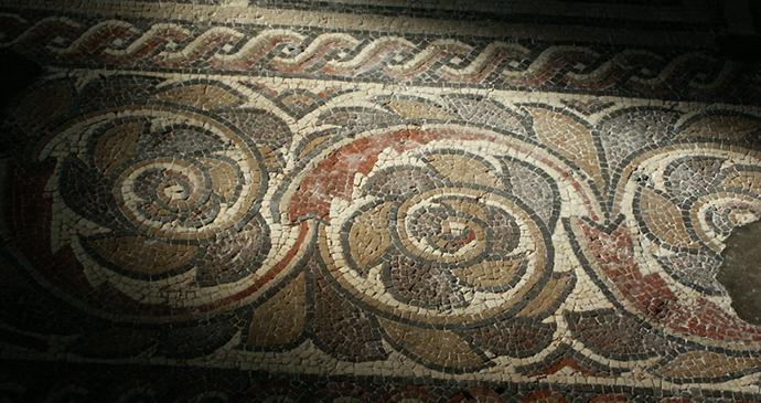 Mosaic, Chedworth Roman Villa by Caroline Mills