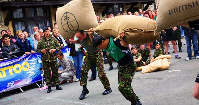 Tetbury woolsack race, Cotswolds, England by Colin Young