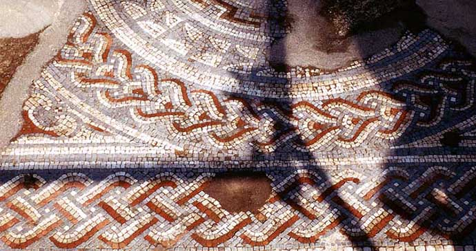 Woodchester Mosaic, Cotswolds, England by Adrian Pingstone