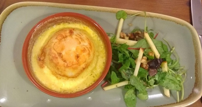 Cheese Souffle at The Fleece  © Anne-Marie McLeman