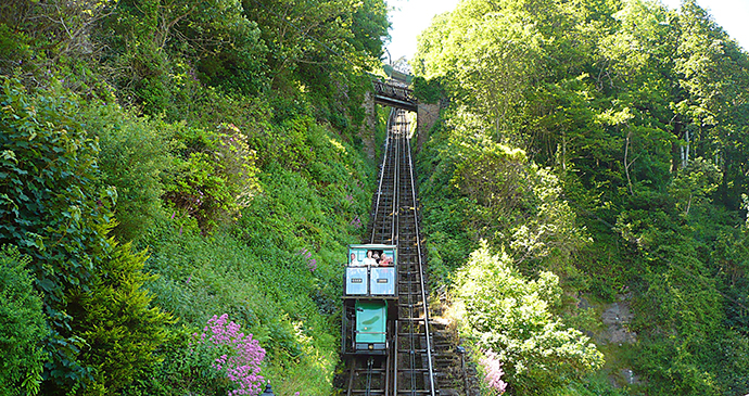 Lynton to Lynmouth Cliff Railway, Exmoor, UK by Shirley Turner