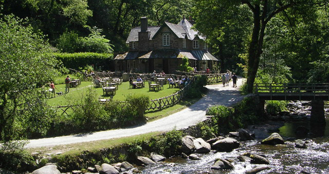 Watersmeet house, Exmoor, UK by Mark Percy, Wikimedia Commons