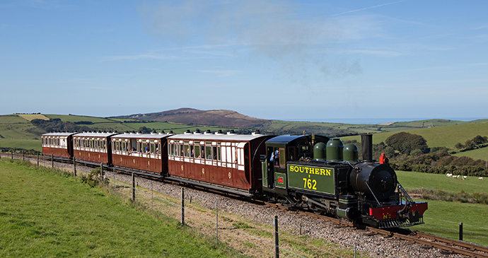 Woody Bay train, Exmoor, UK by Anthony Christie