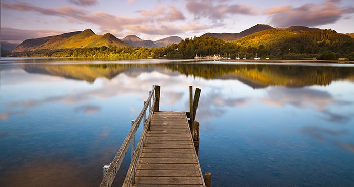 Derwent water Cumbria Britain by Richard Bowden Shutterstock best paddleboarding lakes Britain