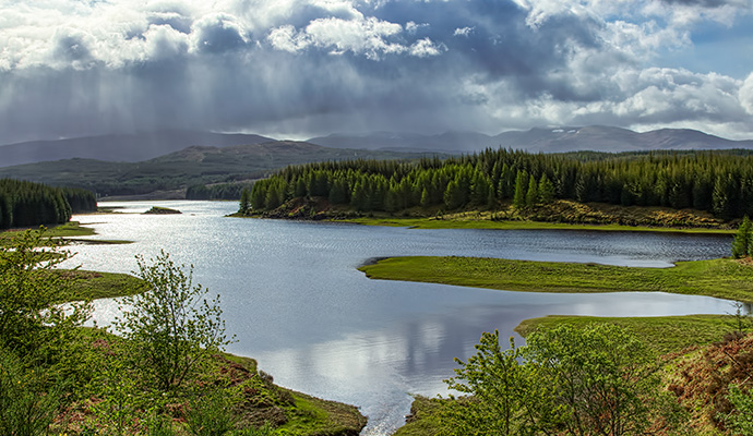 Loch Laggan Highland Britain by Phillip Bird LRPS CPAGB Shutterstock best paddleboarding lakes Britain