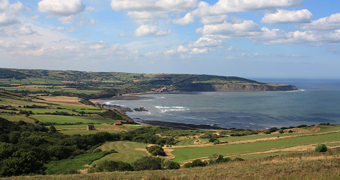 Ravenscar Bay on the North Yorkshire Coast, North England by Helen Rawling RGS-IBG Discovering Britain