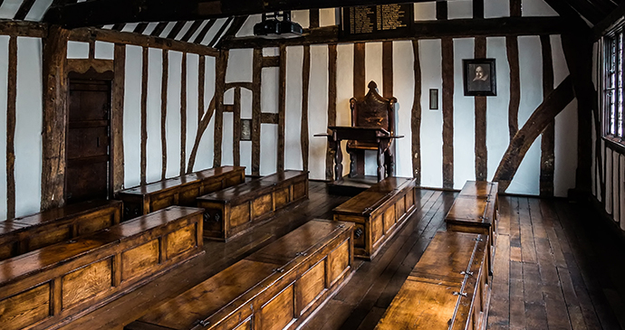 Shakespeare's schoolroom, Stratford, England by Sara Beaumont Photography
