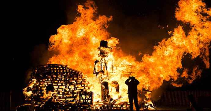 Bonfire, Lewes, Sussex, England by Mitotico, Shutterstock