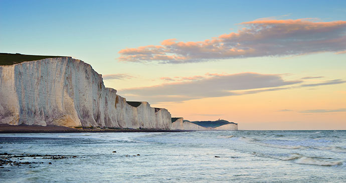 Seven Sisters, Sussex, England by Honourableandbold Dreamstime.com