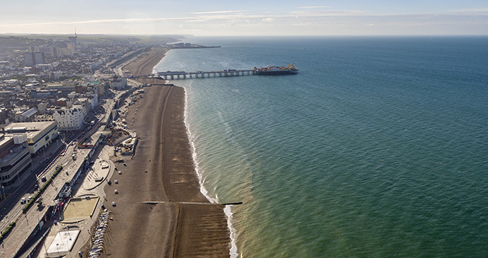 Brighton beachfront, British Airways i360, Brighton, Sussex, England by Visual Air