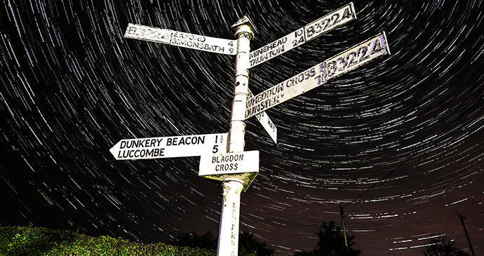 Stargazing Blagdon Cross Exmoor by Exmoor National Park connecting with nature Britain
