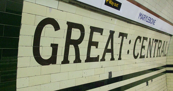 Great Central Railway Bakerloo Line Marylebone London by wgga, Wikimedia Commons