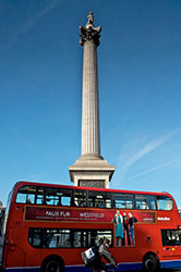 Trafalgar Square bus 15 London by Diana Jarvis Visit England
