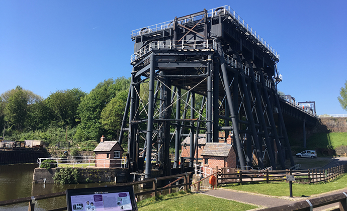 Anderton Boat Lift Cheshire England by Marketing Cheshire