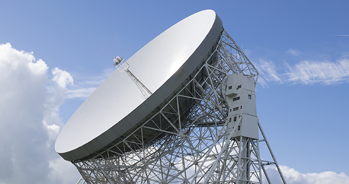 Jodrell Bank Lower Withington Cheshire England by Paul Stringer, Shutterstock
