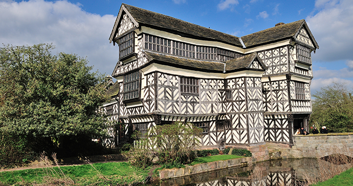 Little Moreton Hall Congleton Cheshire England by C. J. Williamson, Shutterstock