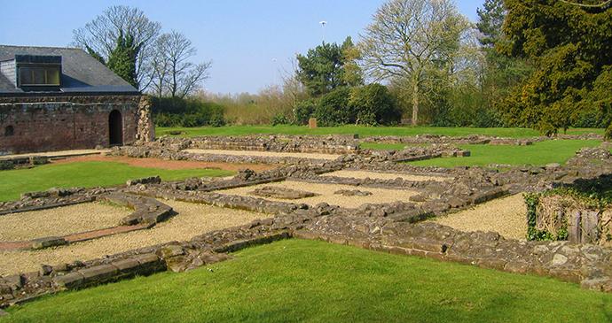 Norton Priory Runcorn Cheshire England by Public domain