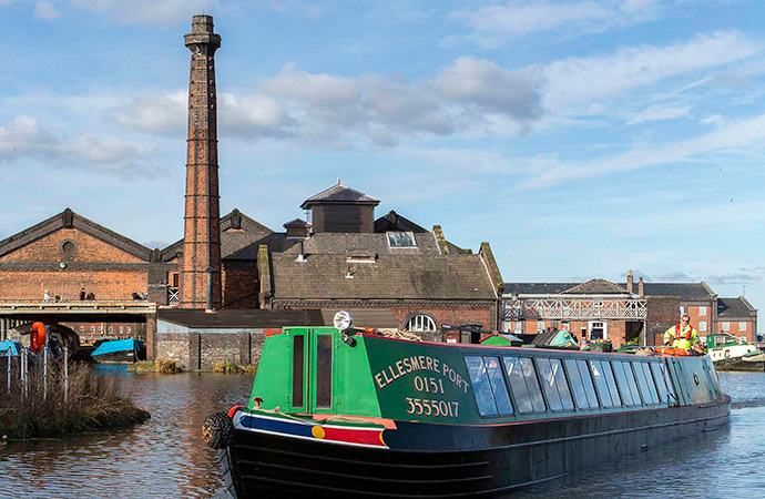 Cheshire canals Cheshire England by National Waterways Museum