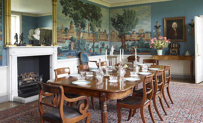 Dining Room Stonor Park Chilterns by Simon Upton Shutterstock