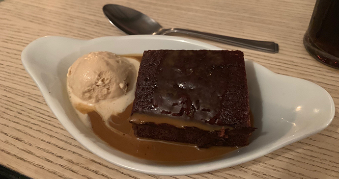 Sticky toffee pudding at The Maltsters Arms, Henley © Holly Parsons