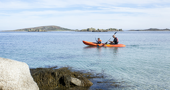 Kayaking Tresco Isles of Scilly outdoor activities Cornwall by James Darling