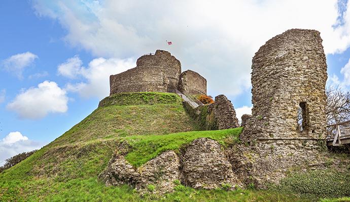 Launceston Castle Launceston Cornwall by Judita Jurkenaite shutterstock