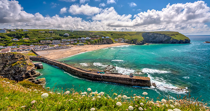 Portreath beach Cornwall England UK Britain by ian woolcock Shutterstock