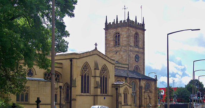 Dewsbury Minster Yorkshire UK by Mtaylor848, Wikimedia Commons