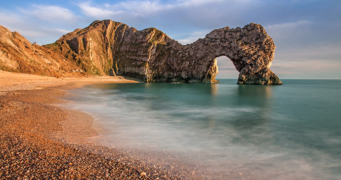 Durdle Door Lulworth Cove Dorset England by Gail Johnson, Shutterstock