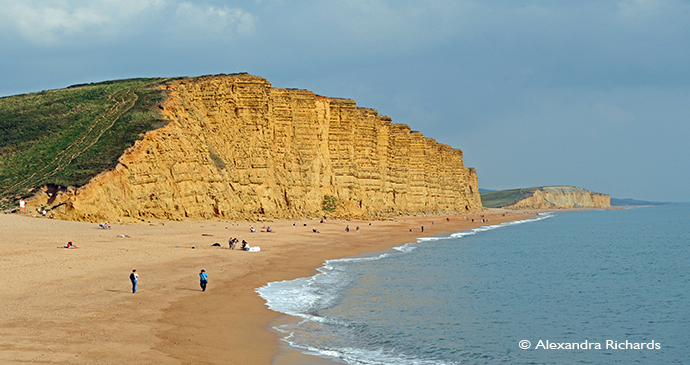 West Bay Cliffs, Coast, Dorset, England, British Isles © Alexandra Richards