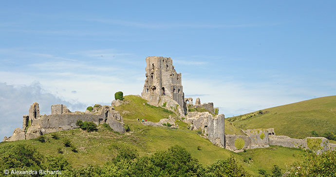Corfe Castle Dorset England by Alexandra Richards