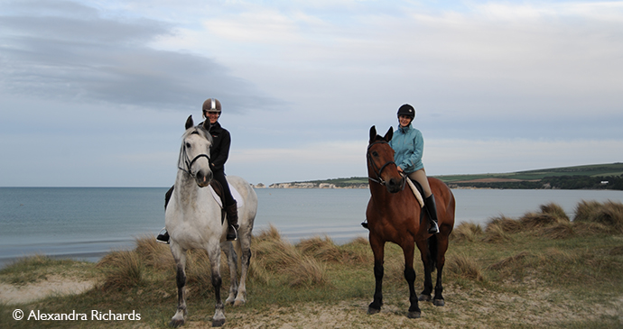 Horseriding Studland England UK by Alexandra Richards