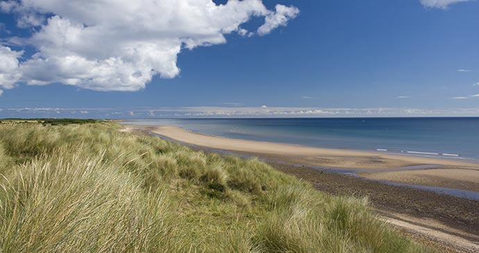 Druridge Bay Northumberland British Isles by H Athey shutterstock