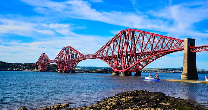 Forth Rail Bridge Scotland Britain by gemini, Shutterstock