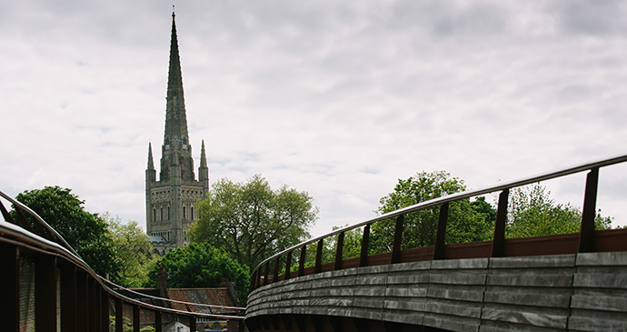 Norwich Cathedral, Norwich, Norfolk by Visit Norfolk city river stroll