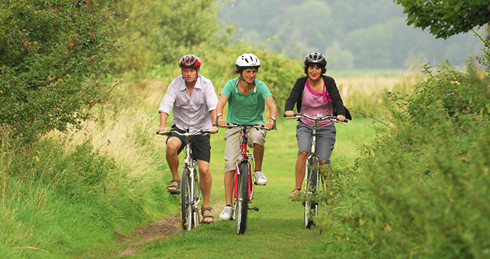 Cycling, Norfolk Broads, Norfolk by Broads Authority