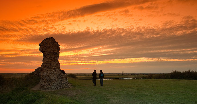 Burgh Castle Norfolk UK by David Street, Greater Yarmouth Tourism