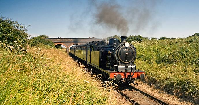 Steam train, Weybourne, Norfolk by Norfolk Coast Partnership