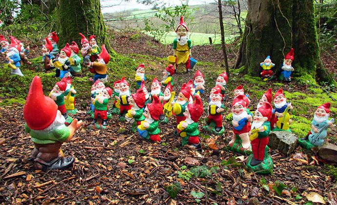 Gnome reserve, North Devon, UK by Richard Breakspear, Flickr wet weather devon