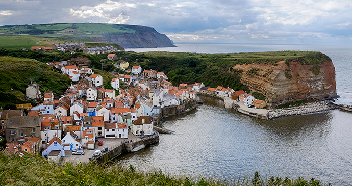 Staithes Whale Watching Yorkshire England by Tony Bartholomew, NYMNP