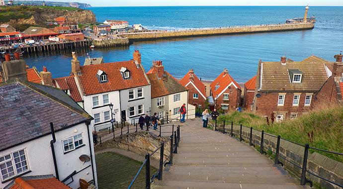 Whitby steps England by Tony Bartholomew, NYMNP