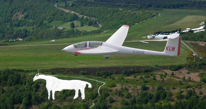 Gliding at Kilburn by Yorkshire Gliding Club
