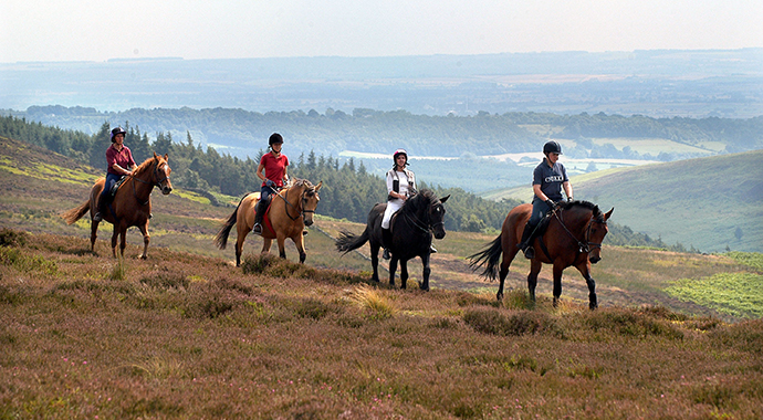 Horseriding in the North York Moors National Park by Tony Bartholomew, NYMNP