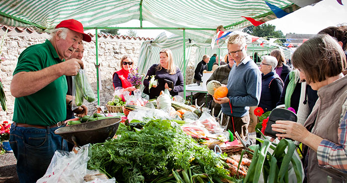 Hovingham Farmers Market North York Moors British Isles UK Chris J Parker, North York Moors National Park Authority