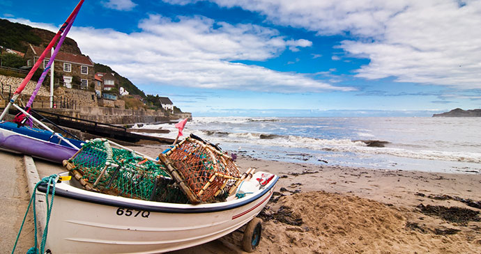 Fishing boats Runswick Bay North York Moors England by Welcome to Yorkshire