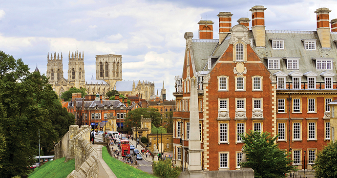 York city walls and Minster by Visit Britain