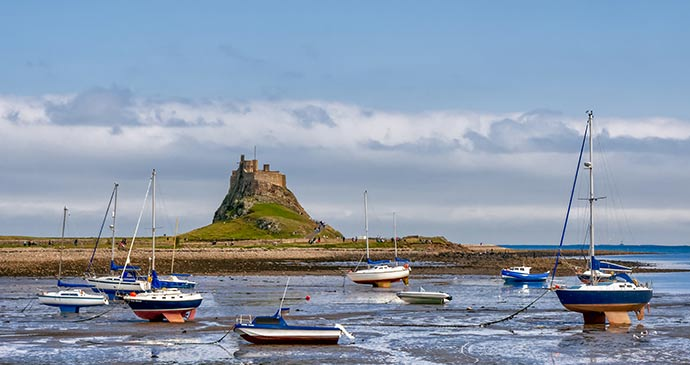 Lindisfarne Castle, Northumberland, UK by Philip Bird, Shutterstock