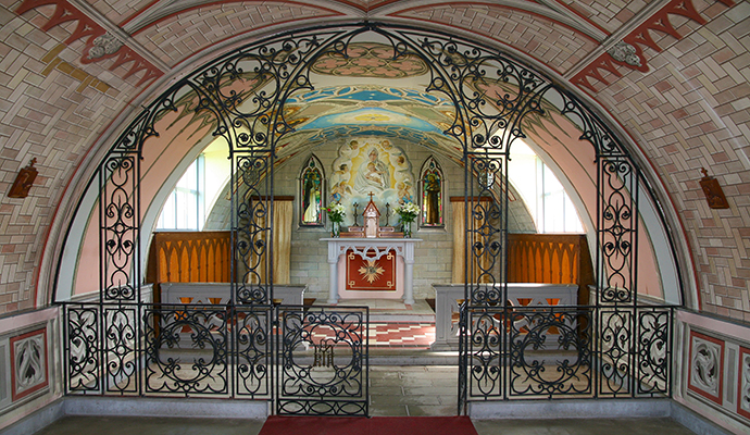 Interior of Italian Chapel Lamb Holm Orkney by Paula Fisher Dreamstime